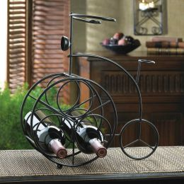 One-of-a-kind Iron Tricycle Wine Rack