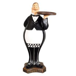 Fat Waiter Statue with Tray