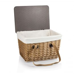 Canasta Willow Basket With MDF Lid