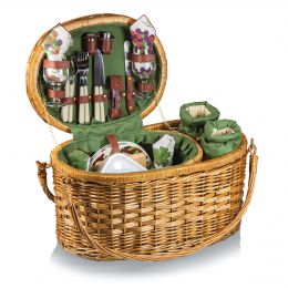 Merlot Deluxe Service For Four Picnic Basket