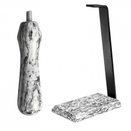 Granite Table Stand with a Granite Handle  - White Wave